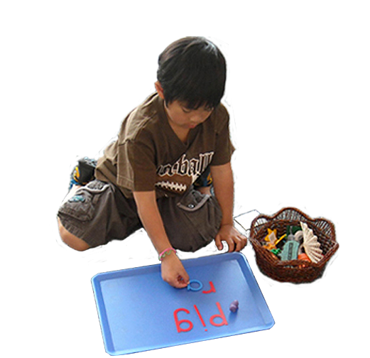 Photo of playing with alphabet